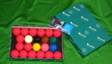 "BRAND NEW 2 1/16"" (52.5mm) SUPER ARAMITH PREMIER QUALITY SNOOKER TABLE BALLS"
